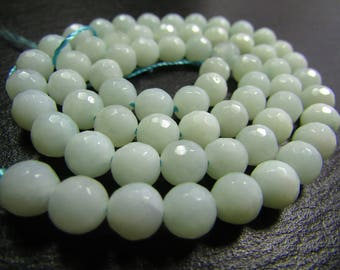 Set of 5 faceted Amazonite 6mm beads