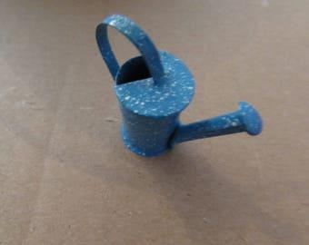 Miniature metal watering can