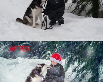 Photo editing, professional photo retouching, winter retouching, photo retouching, Photoshop editing service, Custom Photo editing