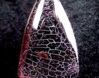 Black Rose Fire Agate Pendant
