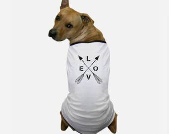 Love Dog T-Shirt - Designer Dog Wear - Shirts With Puppies On Them - Designer Dog Apparel - Yellow Dog T Shirt - Tops For Dogs