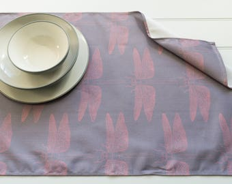 Tea Towel Made from 100% Cotton in Detailed Dragonfly Pink Pattern