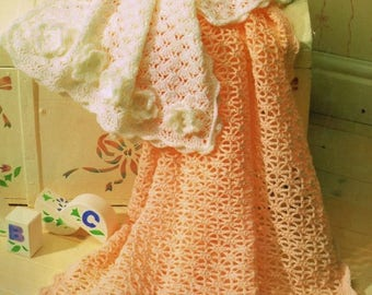 Baby Pram Cover And Shawl, Crochet Pattern. Instant Download.