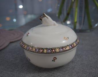Hand-painted Porcelain Unique Sugar Bowl