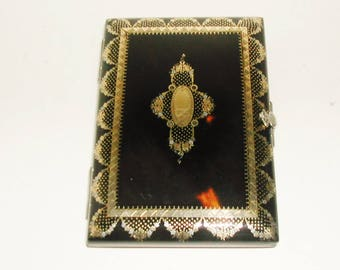 A carnet / notebook with pique inlay. c 1860