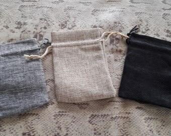 Clutch in cotton shape rectangle 12x9cm