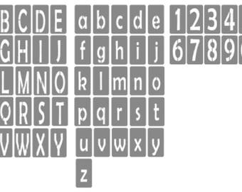 Crafti-Ness Alphabet stencil tiles - Upper and lower case 5x9cm
