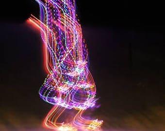 Outdoor Photography, Night Photography, Digital Download, Christmas Tree, Lights, Blurry Lights, Printable, Wall Art,Home Decor,winter decor