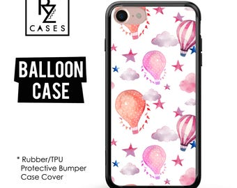 Balloon Phone Case, Dreams Phone Case, Zeppelin Case, Balloon Case, Clouds, iPhone 7, Gift for Her, iPhone 7 Plus, iPhone 6S, Rubber, Bumper