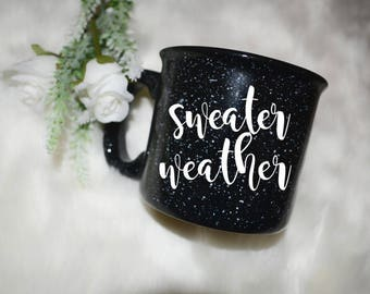 sweater weather, campfire mug, mug, birthday gift, girlfriend gift, mom, dad, sister