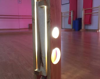 __ Wood table lamp/LED WooDworking\__illuminazione Ab