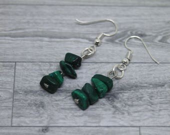 Malachite Earrings, Malachite Jewelry, Gemstone Earrings, Green Malachite, Malachite Dangle Earrings, Malachite Drop Earrings, Malachite