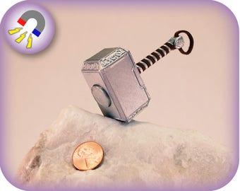 Thor's Hammer Mjolnir Magnet | 3D Printed | Powerful Neodymium Fridge Magnet