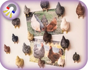 Hand Painted Chicken Magnet | 3D printed | Custom Orders Available