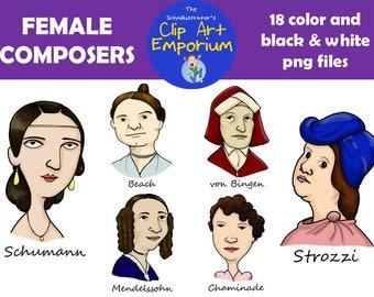 Female Composers Clip Art