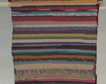 Woven Rag Rug Multi Color