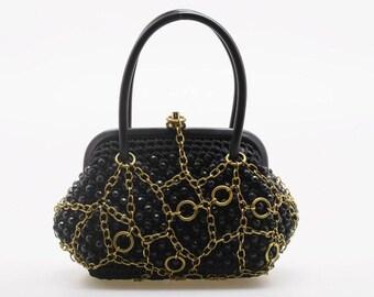 Minaudière sac, sac bleu pour le mariage et les fêtes, personnalisé sac à main, sac du singulier. Pequeño bolso de fiesta idéal para boda y regalo