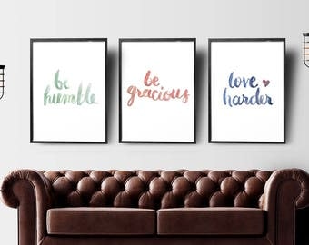 Watercolor Affirmations Poster