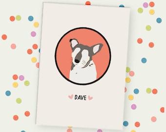 Personalised Pet Portrait Unframed Print