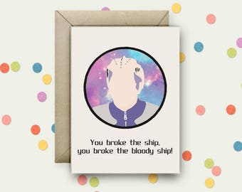 Galaxy Quest Pop Art and Quote A6 Blank Greeting Card with Envelope