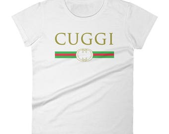 gucci shirt. cuggi - fake italian brand parody women\u0027s short sleeve t-shirt gucci shirt a