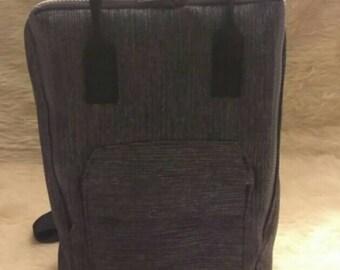 Black Denim backpack purse