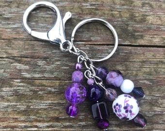 Keychains for Women, Bag Charm, Purse Charm Beaded, Purse Charms for Handbags, Keychain, Handbag Charms, Beaded Keychain, Gifts for Her