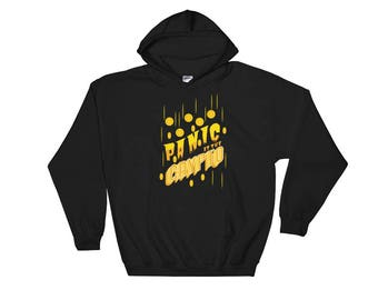 Panic At The Crypto Hooded Sweatshirt // Funny Cryptocurrency Hoodie // Blockchain Bitcoin Hoodie // Digital Currency Sweatshirt