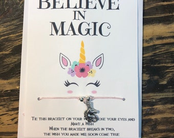 Unicornwish bracelet.Believe in magic wish bracelet.Unicorn magic bracelet .Unicorn friendship bracelet.Believe in unicorn magic jewelry