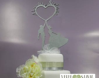 Wooden top cake grooms customizable