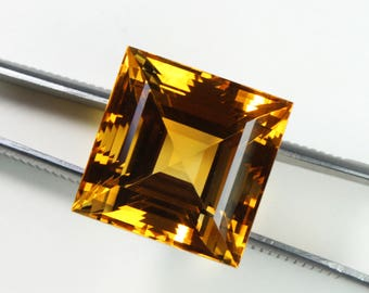 Amazing 46.50 Carats Extra Huge Natural Citrine Faceted Square with Nice cutting 20X20X16 MM Natural Citrine