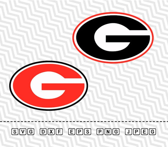 svg georgia bulldogs logo vector layered cut file silhouette