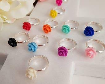 Little girls rose rings