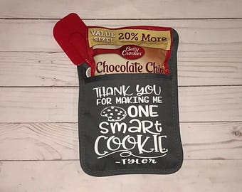Thank You For Making Me One Smart Cookie   Smart Cookie Teacher Appreciation Gift   Personalized Teacher Gift   Smart Cookie Pot Holder