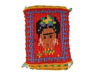 Macrame Bracelet with Frida Cahlo
