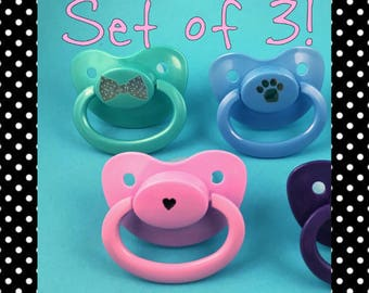 BUNDLE Adult Pacifier, DDLG Pacifier, ABDL Pacifier, Adult Baby