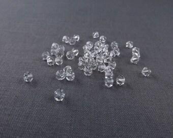 Swarovski Bead Bicone 4mm Crystal Clear Destash #17-047