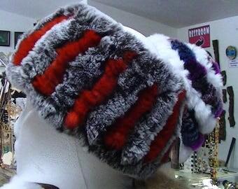 Headband handmade with Rex Rabbit Fur