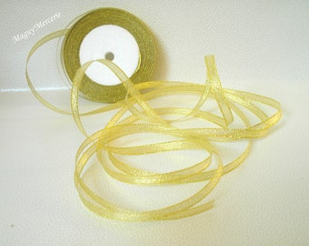 Width gold glitter Ribbon 7 mm