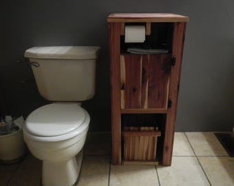 Toilet Paper Holder,Wood Bathroom Cabinet Toilet Paper Storage,Bathroom  Trashcan
