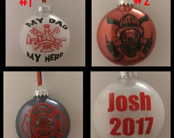Firefighter ornament **free shipping**