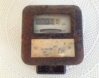 electric meter - Vintage electrometer - Single phase electrometer -  Electricity meter  220V - Electric Watt Hour Meter -