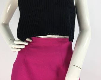 1980s 90s pink mini skirt, size 4 made in USA