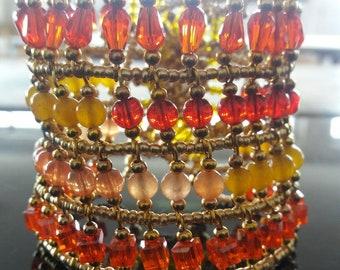 Ethnic style bracelet made hand