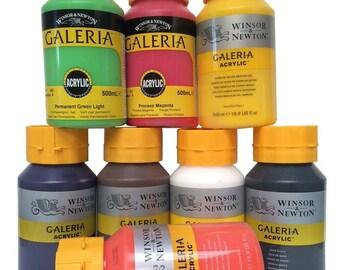 Galeria Acrylic Paint - 500ml Bottles - Various Colours