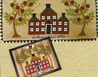 Our House Folk Art Penny Rug by All Through the Night - Pattern