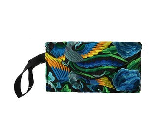 Blue Floral/Floral Purse Clutch Wallet