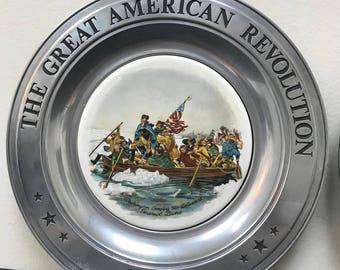 The great American Revolution Commemorative Wall Plates