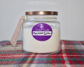 Hazelnut Coffee - Coffee Lovers gift - natural candle