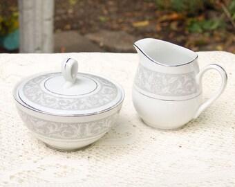 Imperial China WHITNEY Sugar Bowl and Creamer Set W Dalton #5671